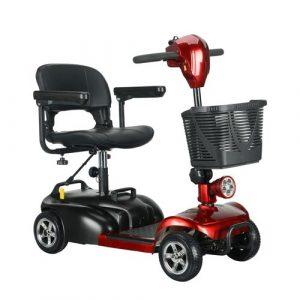 เก้าอี้รถเข็นไฟฟ้า สกู๊ตเตอร์อาวุโสสี่ล้อ ผู้สูงอายุรถพับไฟฟ้า