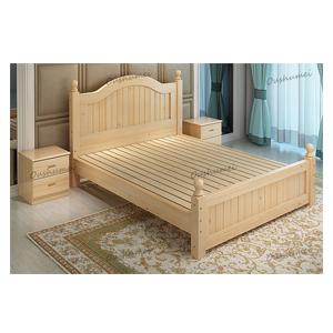 Oushumei เตียงไม้สไตล์วินเทจ