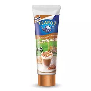 Teapot นมข้นหวานแบบหลอดบีบ กลิ่นคาราเมล