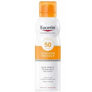 Eucerin สเปรย์กันแดดผิวกาย Sun Spray Dry Touch Transparent SPF50